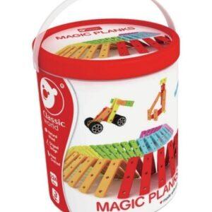 Цветен дървен конструктор - Детски играчки - Конструктори - Дървени играчки