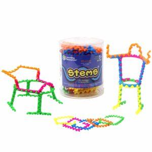 Цветен конструктор с гъвкави части - 20 броя, STEMS - Детски играчки - STEM Играчки