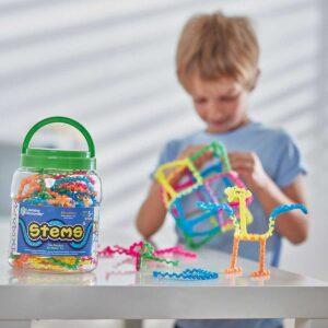 Цветен конструктор с гъвкави части - 60 броя, STEMS - Детски играчки - STEM Играчки