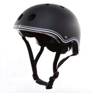 Цветна каска за колело и тротинетка, 51-54 см - Черна - Играчки за навън - Протектори - каски, налакътници, наколенки