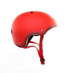 Цветна каска за колело и тротинетка, 51-54 см - Червена - Играчки за навън - Протектори - каски, налакътници, наколенки