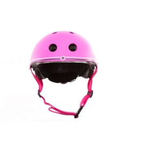 Цветна каска за колело и тротинетка, 51-54 см - Розова - Играчки за навън - Протектори - каски, налакътници, наколенки