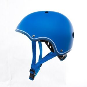 Цветна каска за колело и тротинетка, 51-54 см - Синя - Играчки за навън - Протектори - каски, налакътници, наколенки