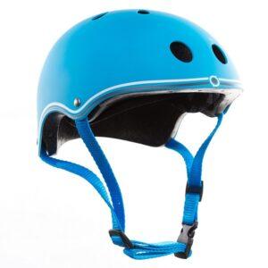 Цветна каска за колело и тротинетка, 51-54 см - Светло синя - Играчки за навън - Протектори - каски, налакътници, наколенки