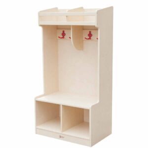 Ученически гардероб за дрехи и обувки за 2 деца - Мебели и играчки за детски градини и центрове - Мебели за детски градини и центрове