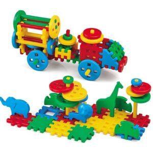 Вафлен конструктор 100 части - Детски играчки - Конструктори