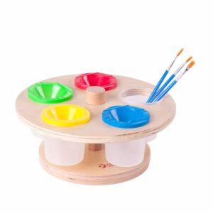 Въртяща се стойка с пособия за рисуване - Мебели и играчки за детски градини и центрове - Творческо и музикално обучение за деца