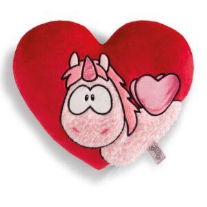 Възглавница сърце с Еднорогът Theodor - За бебето - Аксесоари за детска стая - Декоративни и детски възглавници - За детето - Аксесоари и текстил за детска стая