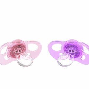 Залъгалки за бебета Twistshake 2 бр. 0-6 месеца розово и лилаво - За бебето - Хранене - Залъгалки и чесалки