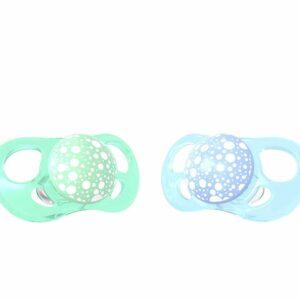 Залъгалки за бебета Twistshake 2 бр. 0-6 месеца синьо и зелено - За бебето - Хранене - Залъгалки и чесалки