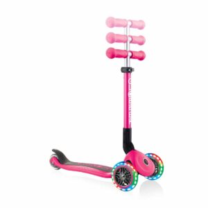 Сгъваема тротинетка със светещи колела, Globber Junior - 2+ г., розова - Тротинетки - Играчки за навън - Тротинетки с 3 колела за деца
