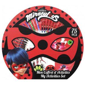 Детски комплект за рисуване 75 части, MIRACULOUS - Детски играчки - Комплекти за рисуване - Miraculous