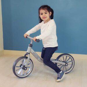 """Детско колело без педали 12"""" - сиво - Играчки за навън - Балансиращи колела"""