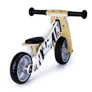 Дървено колело за баланс 2 в 1 FUNBEE - Зебра - Играчки за навън - Балансиращи колела - Детски триколки и четириколки