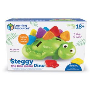 Играчка за фина моторика - динозавъра Стеги - Детски играчки - Образователни играчки - STEM Играчки