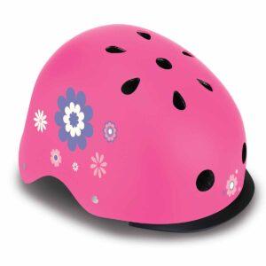 Детска каска за колело и тротинетка Globber, 48-53 см, светеща, розова - Тротинетки - Играчки за навън - Протектори - каски, налакътници, наколенки