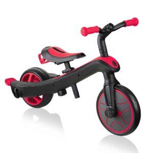 Детска триколка 3 в 1 Globber Trike Explorer - червена - Играчки за навън - За бебето - Бебешки колички - Балансиращи колела - Детски триколки и четириколки