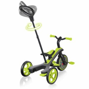 Детска триколка 4 в 1 Globber Trike Explorer, зелена - Играчки за навън - Бебешки колички - Балансиращи колела - Детски триколки и четириколки