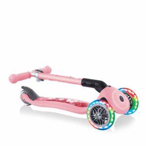 Сгъваема тротинетка със светещи колела Globber Junior Fantasy Lights, пастелно розова - Играчки за навън